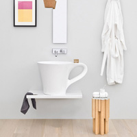 Art Ceram Cup Wall Mounted Basin
