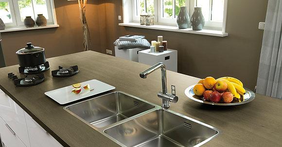 Reginox Ohio Double Bowl Kitchen Sink L40x40+40x40