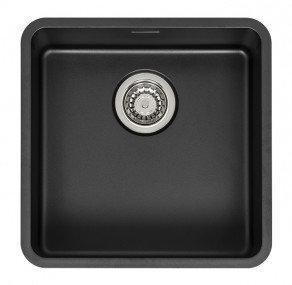 Reginox Ohio Regi-Colour Single Bowl Kitchen Sink Jet Black L40x40
