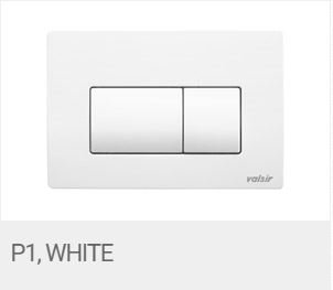 Valsir Dual Flush Push Plate for Winner S - P1 Matt White