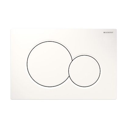 Geberit Sigma 01 Dual Flush Push Plate - White