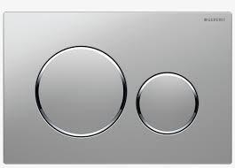 Geberit Sigma 20 Dual Flush Push Plate -Matt w/ Bright Rings