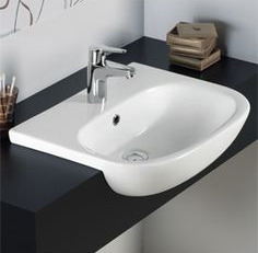Duravit D-code semi-recessed basin
