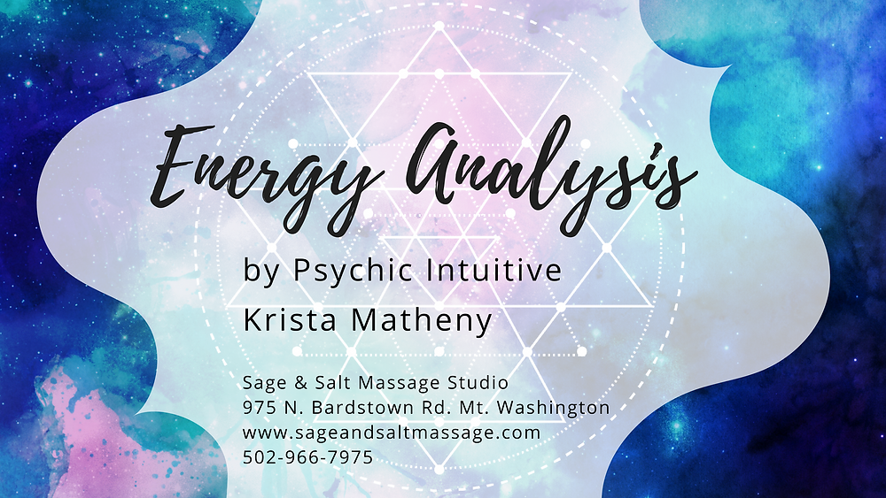 Energetic Analysis by Krista Matheny