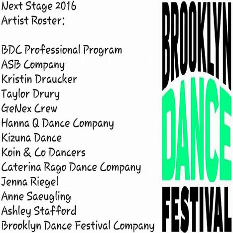 Brooklyn Dance Festival  Next Stage 2016