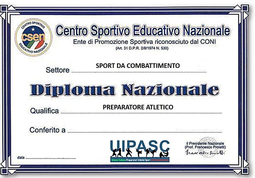 Diploma Preparatore Atletico SdC