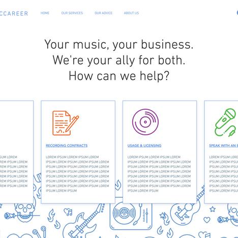 Musician Legal Web UI