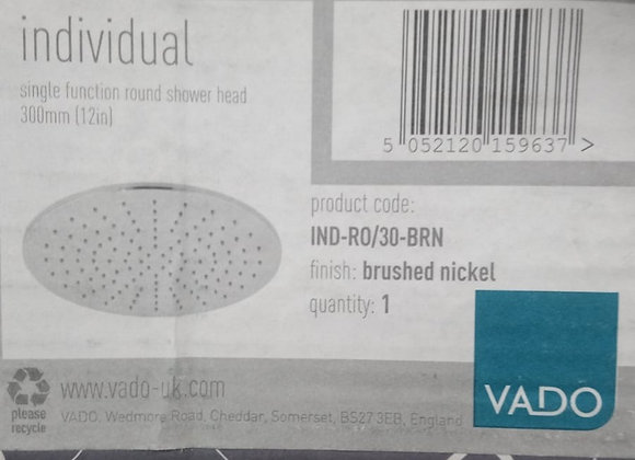 Vado Single Function Round Shower Head 300mm