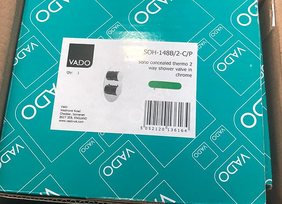 Vado Soho Concealed Thermo 2 Way Shower Chrome