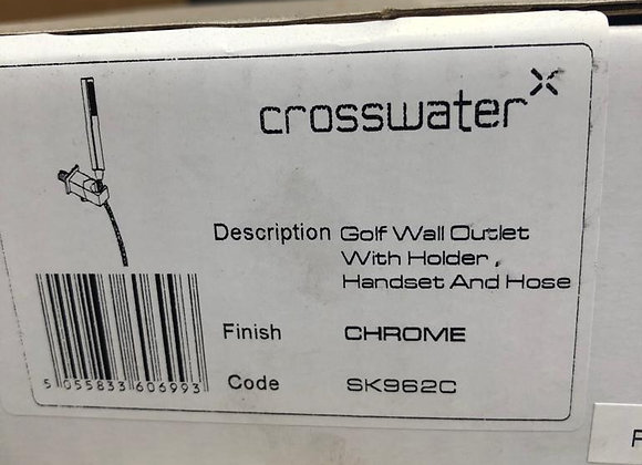Crosswater Golf Water Outlet With Holder, Handset and Hose Chrome