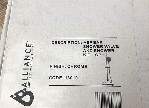 Alliance ASP Bar Shower Valve and Shower Kit Chrome