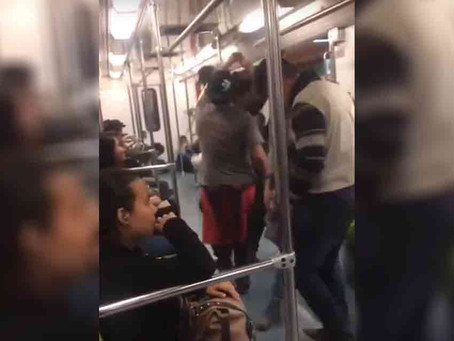 Jóvenes improvisan fiesta dentro de vagón del Metro
