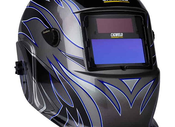 454322 Weldskill Auto-Darkening Welding Helmet Variable Shade 9-13 Tribal