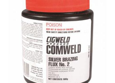 321841 - CIGWELD Comweld SBA Flux No2,  500g Plastic Jar = 1 Each