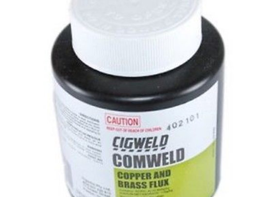 321822 - CIGWELD Comweld Cu & Brass Flux, 250g Plastic Jar = 1 Each