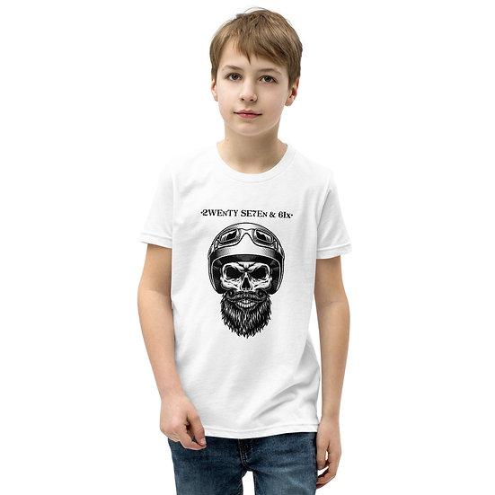 27 & 6 Skull Rider Youth Short Sleeve T-Shirt