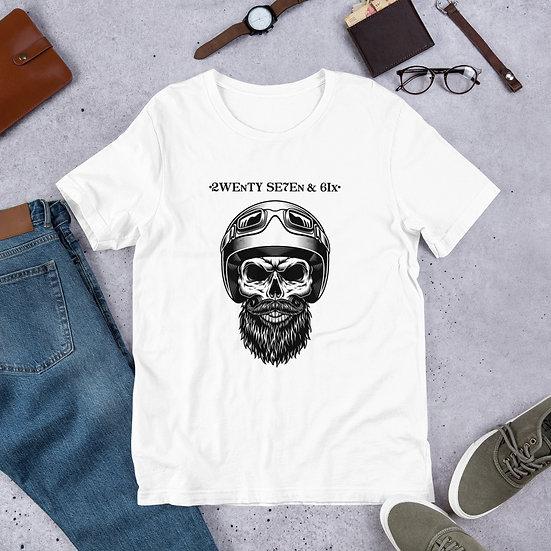 27 and 6 Skull Rider Head Premium T shirt