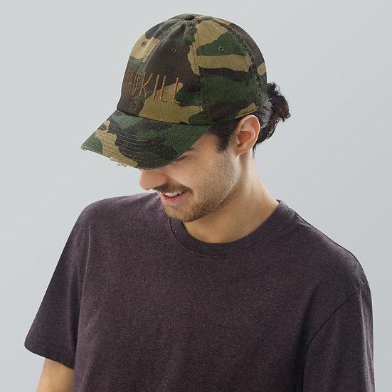 Roadkill Camo Distressed Hat
