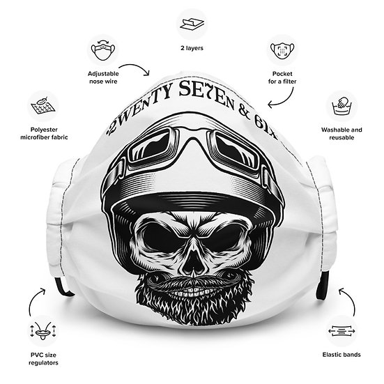 27 and 6 Skull rider Face Mask