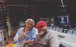 In the studio with Fiji