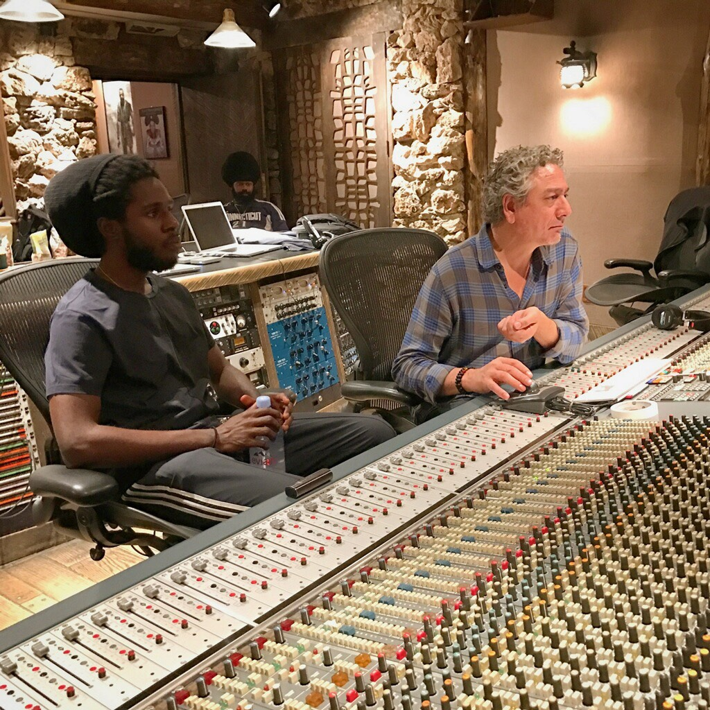 'Mixing with Chronixx in NYC 2017