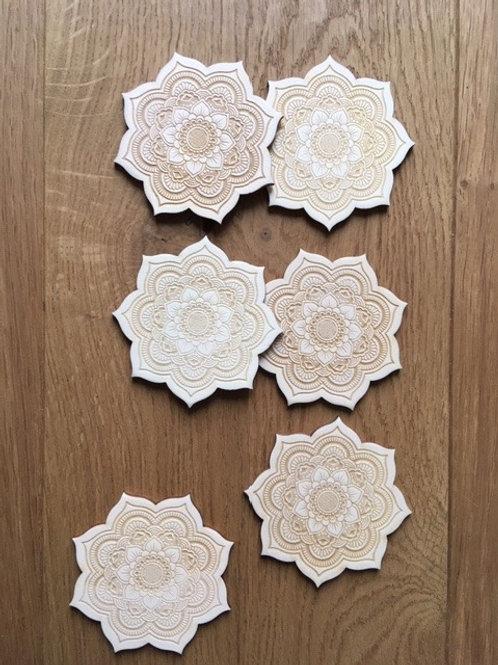 Dessous de verre - Mandala -  Fleur de Vie