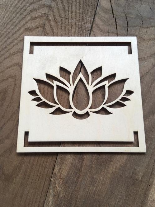 Plaquette murale - Fleur de Lotus
