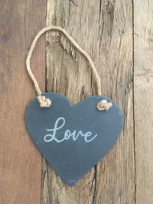 Cœur ardoise - Love (moyen)