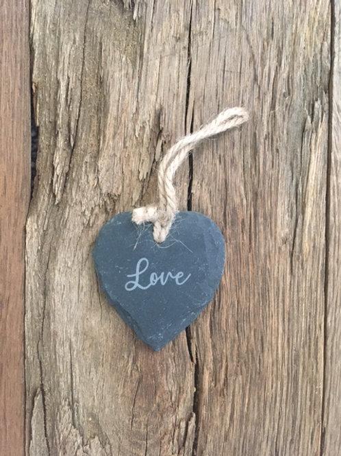 Cœur ardoise - Love (petit)