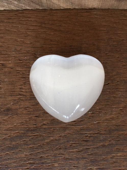 Coeur en Sélénite
