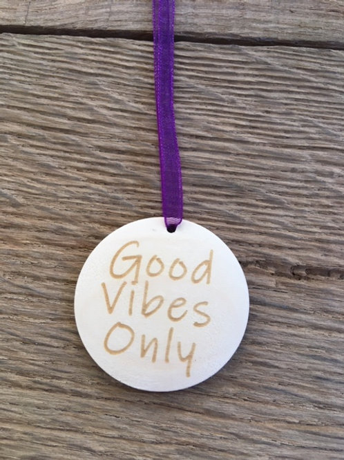 Disque diffuseur huiles essentielles - Good Vibes only
