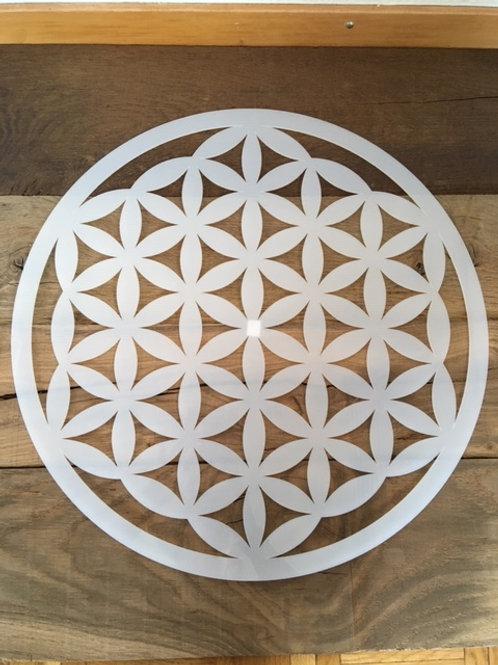 Fleur de Vie - Plexiglas blanc brillant