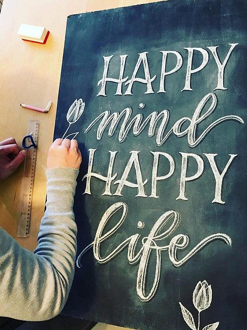 Chalk Lettering - 5 octobre 2019