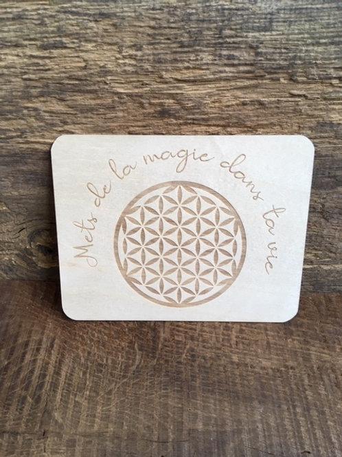 Carte en bois - Mets de la magie dans ta vie