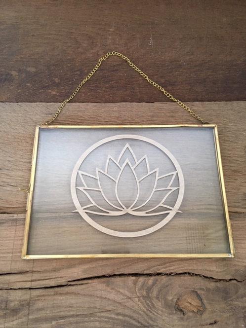 Cadre en verre - Fleur de Lotus