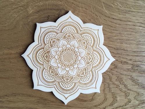 Dessous de bougie - Mandala - Fleur de vie