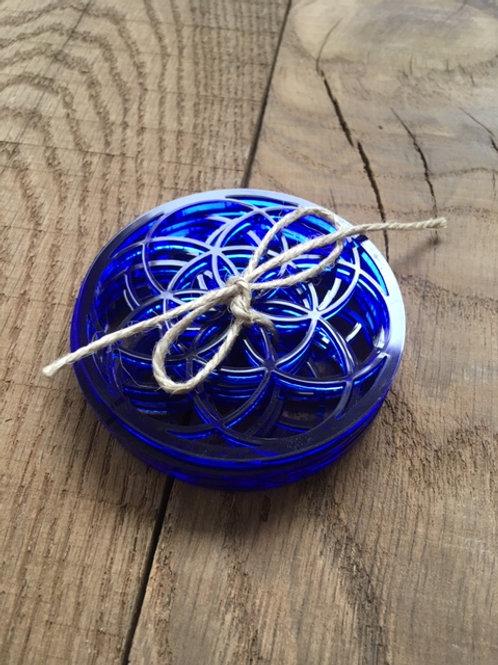 Dessous de verre - Graine de Vie - Plexi bleu