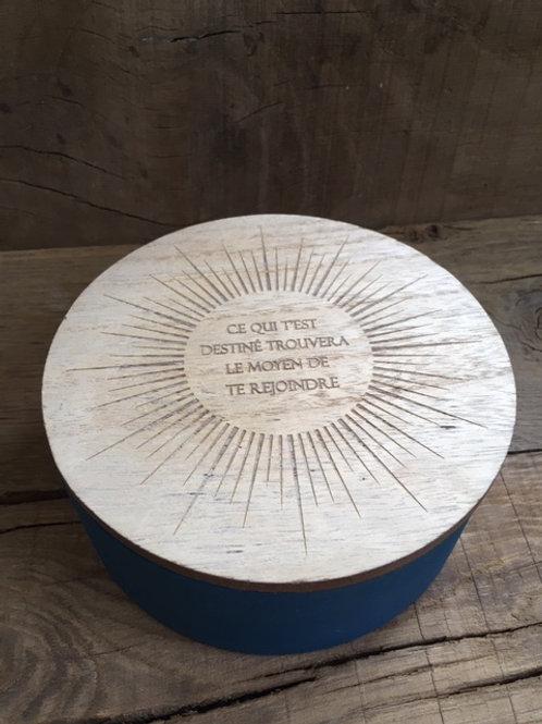 Boite en bois avec miroir - Ce qui t'est destiné trouvera...
