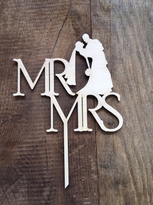 Cake Topper - Mariage - Mr&Mrs