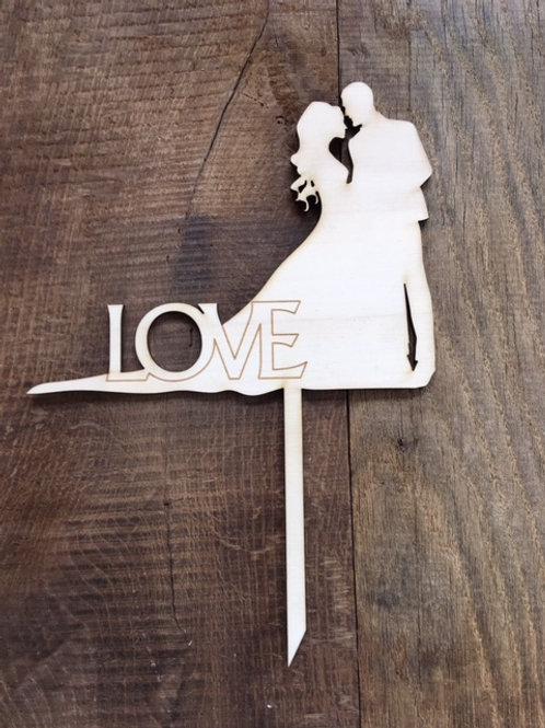 Cake Topper - Mariage - Love