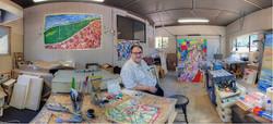 Stephen (Ish) Futral In His Studio