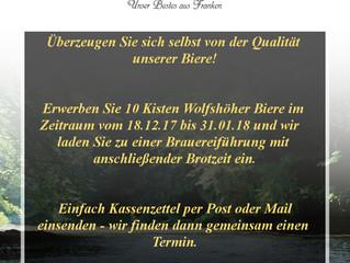 Unsere aktuelle Aktion - 10 Kisten Wolfshöher kaufen und ...? :)