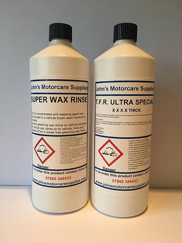 TFR Traffic Film Remover 1L & Super Wax Rinse 1L