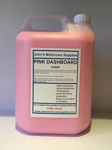 Pink Sheen Dashboard Dressing