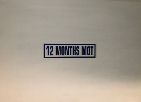 12 Months MOT Pack Of 10 Self Cling Car Sales Window Reusable Display Stickers