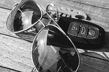 Sunglasses and Keys