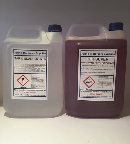 TFR Traffic Film Remover 5 Litres & Tar and Glue Remover 5 Litres