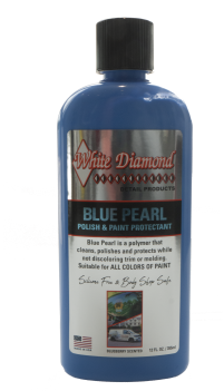 White Diamond Blue Pearl Polish Blueberry Scented