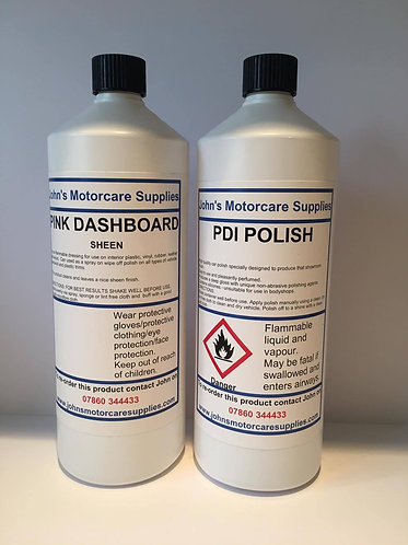 Pink Dashboard Sheen 1L & PDI Pink Car Polish