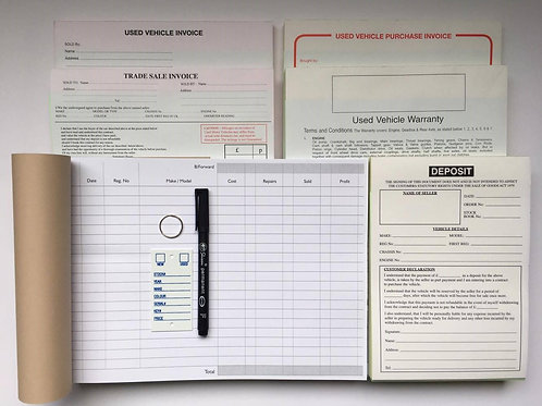 Used Car Sales Stationery Pack